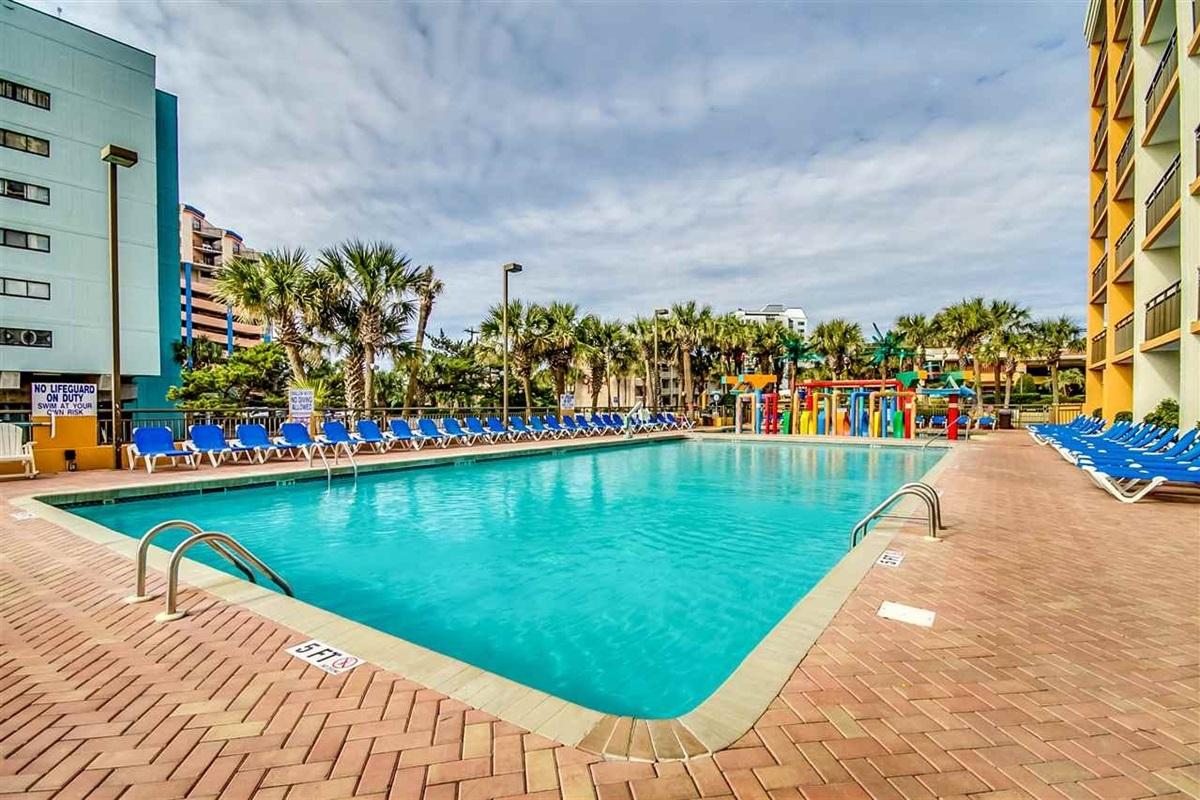 Outdoor Pool of Resort Building Next Door