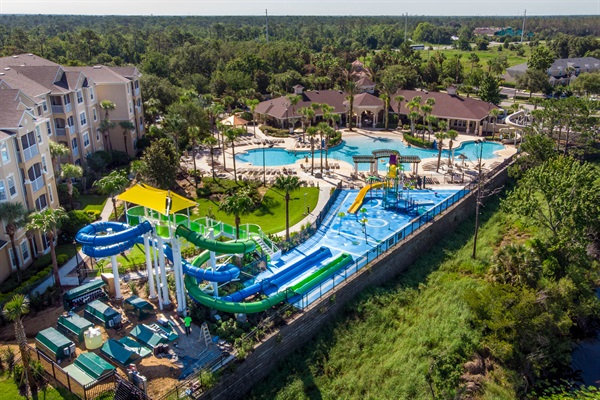 Free access to water slides, splash pad, double Olympic sized pool for all our guests!