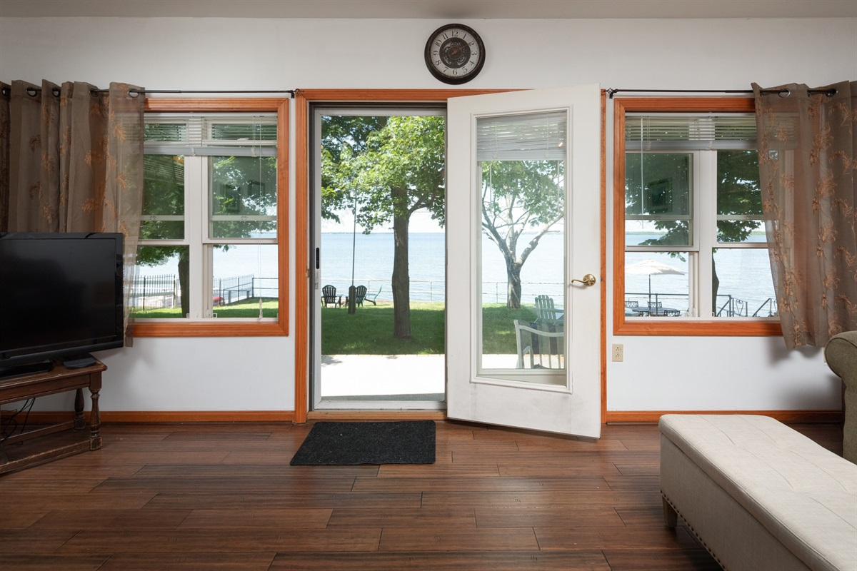 Enjoy the view of the lake!