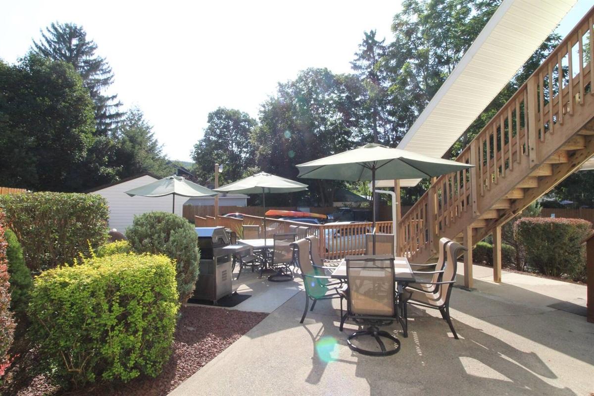 Shared patio area