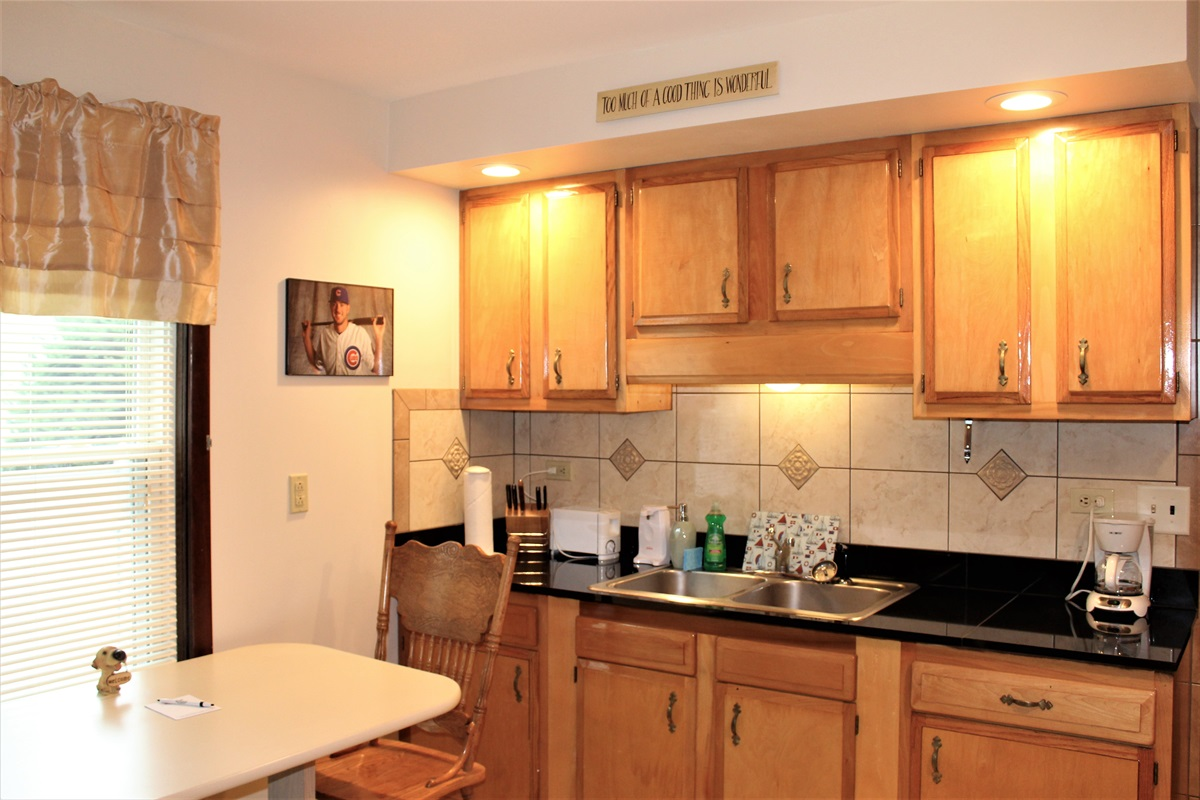 Granite countertops and plenty of appliances for all the comforts of home