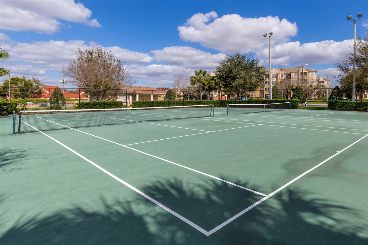 Tennis Courts, Basketball Court And Volleyball Court