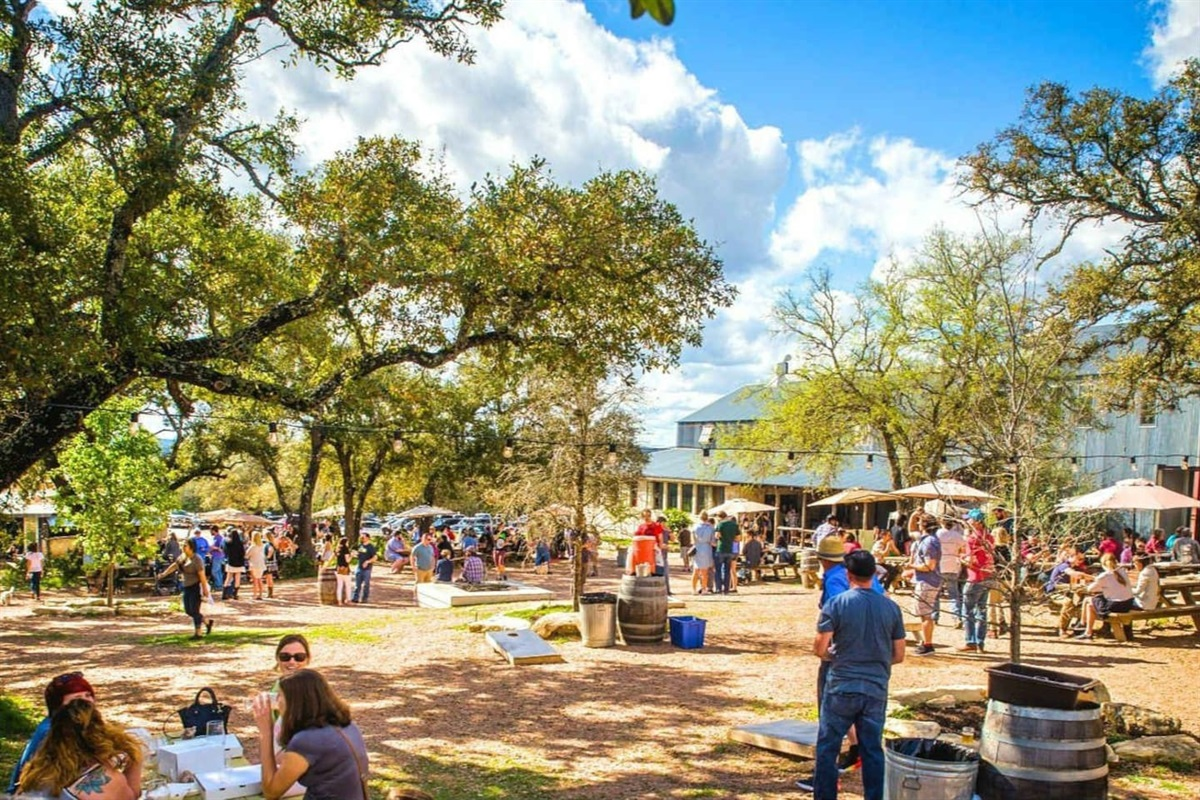 Jester King Brewery & Kitchen- just 8 miles away.