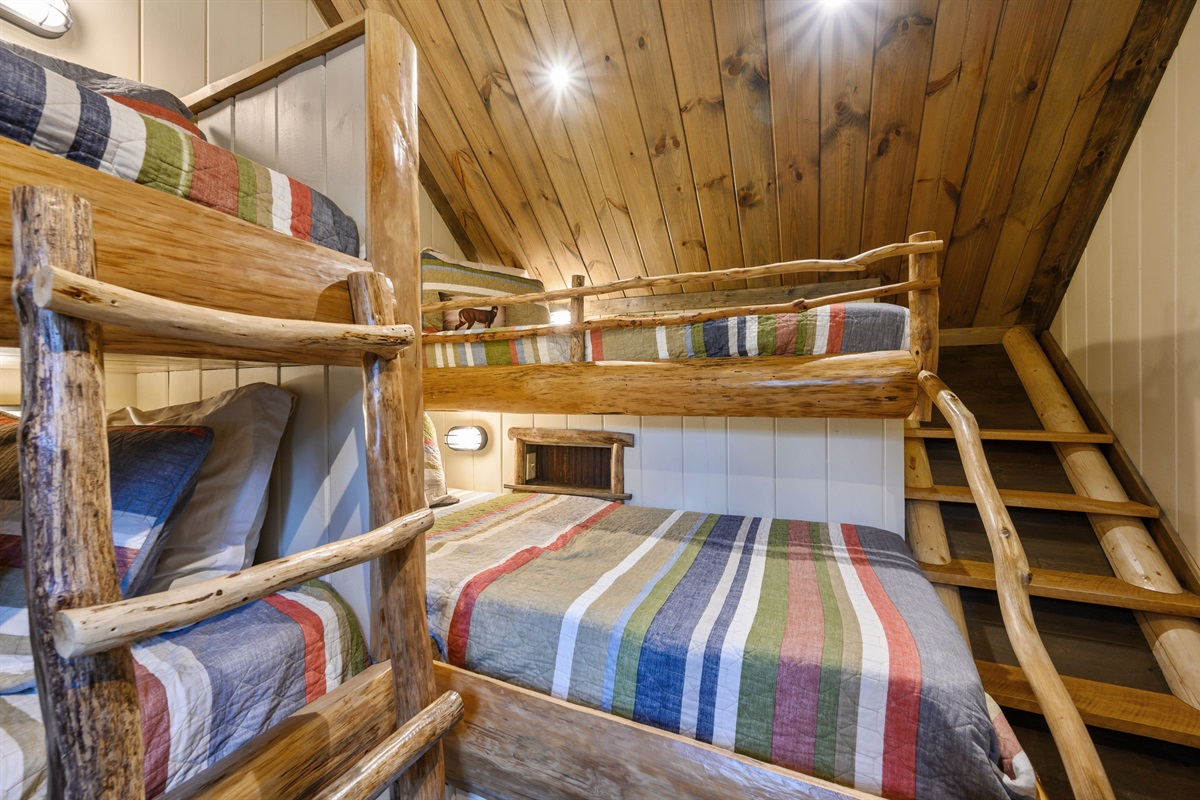 Each bunk includes its own nook and light that is equipped with charging plug and light switch
