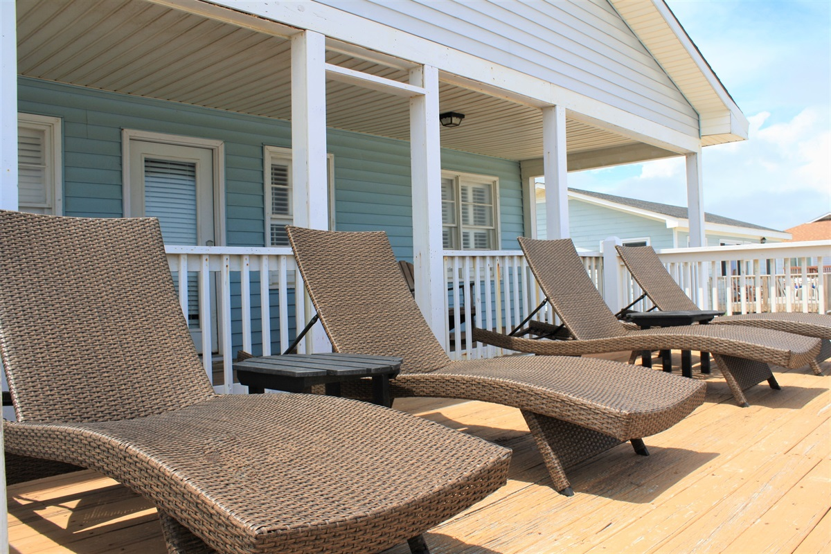 Sun Deck with Lounge Chairs