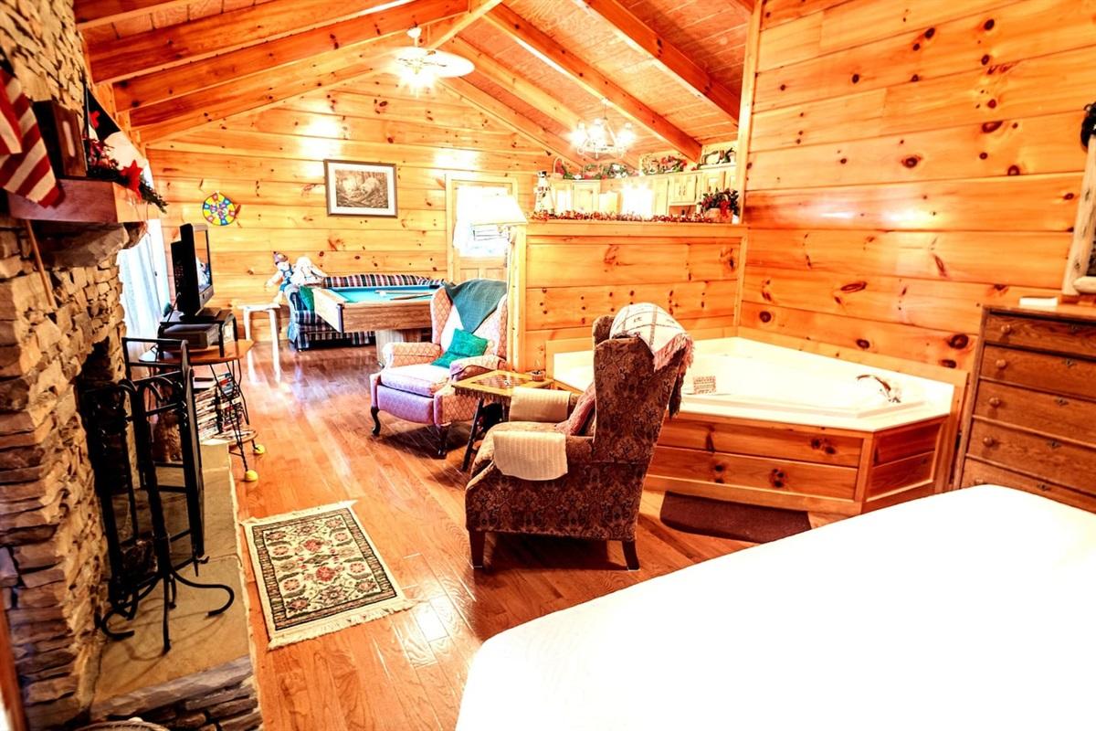 view across cabin