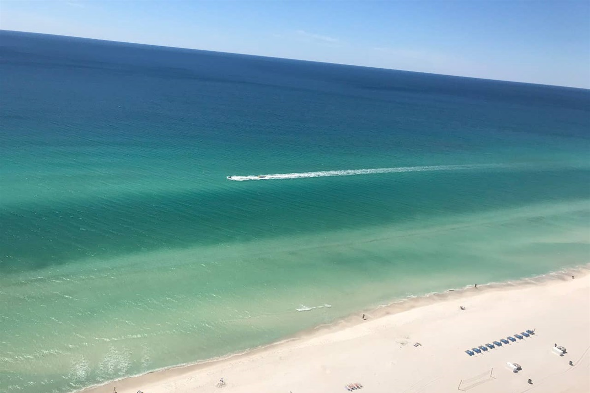 Balcony view 3/22/18 crystal clear water!