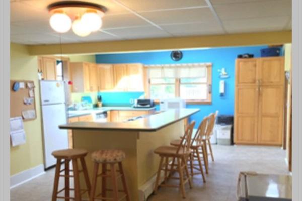 Kitchen area w/ extra mini fridge