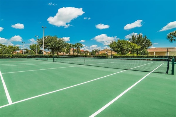 Tennis courts available for use