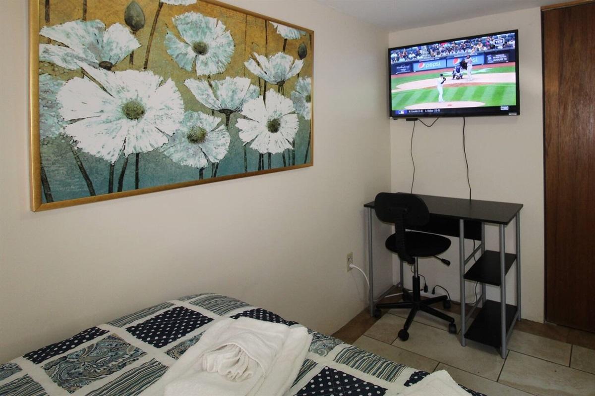 "Bedroom #2 - 43"" or larger flat screen smart Roku TV"