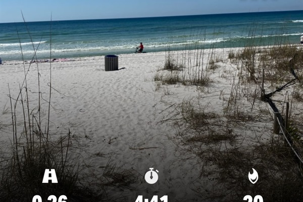 Number of steps to the beach!