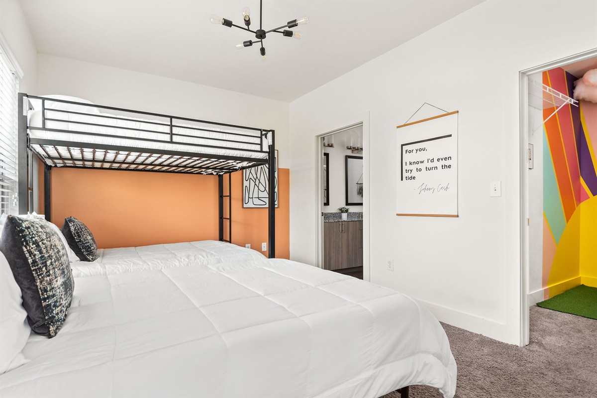 3 Memory foam beds and ensuite bathroom in bedroom #1