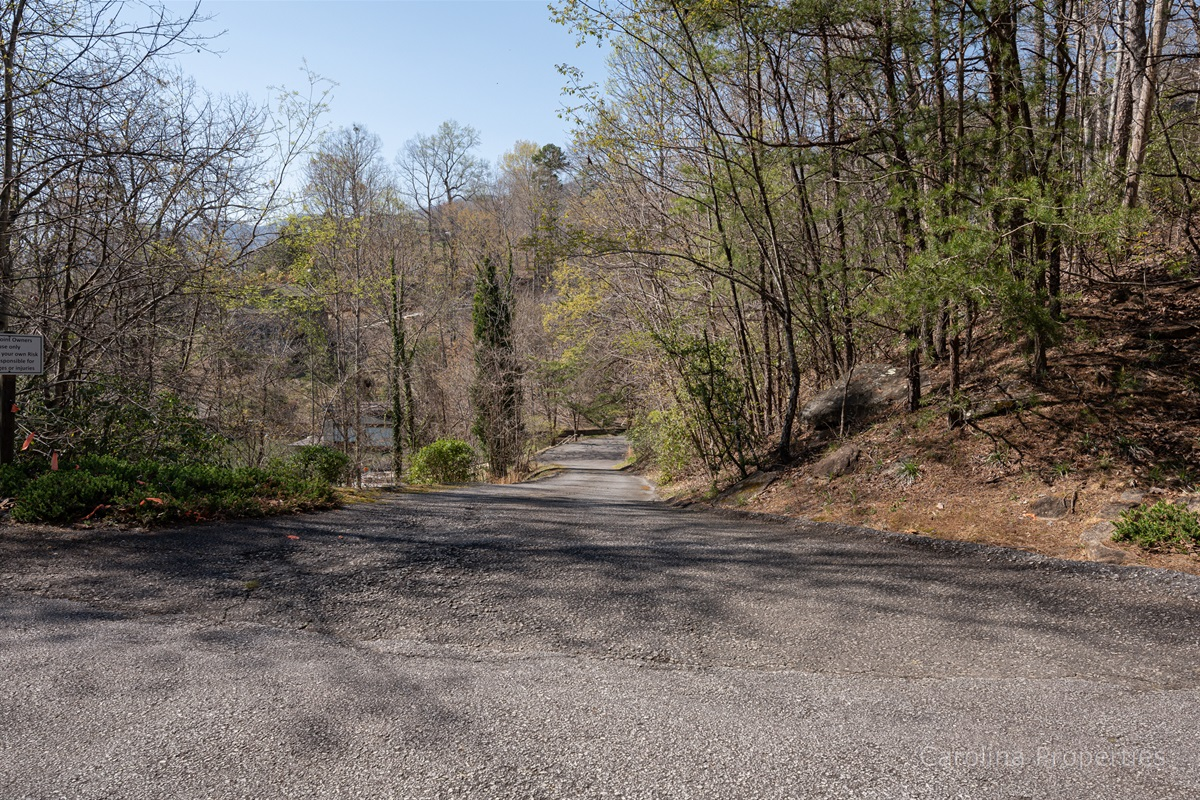 Paved roads leading to The Bear's Den