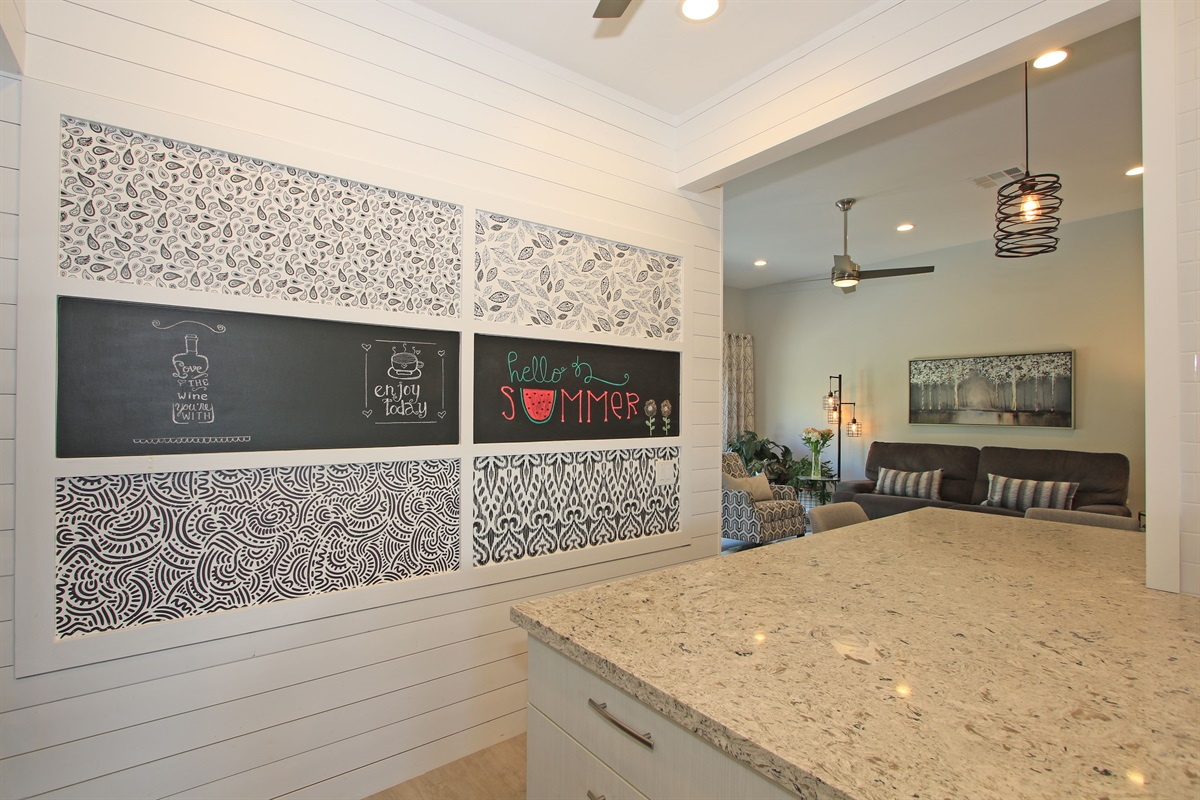chalk board wall for your own creations