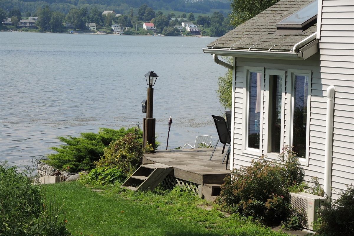 Lake view from side lawn