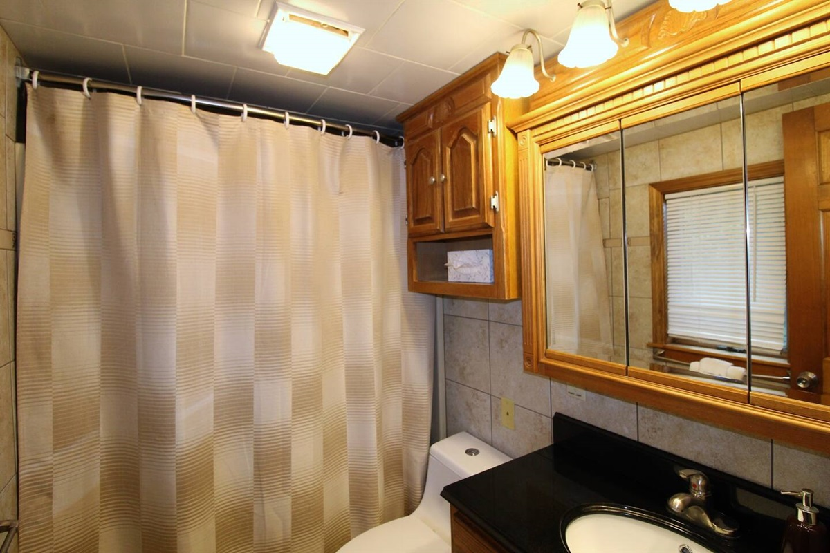Full bathroom on second floor with tub/shower combo