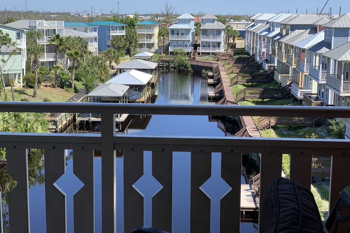 View of the canal from your balcony