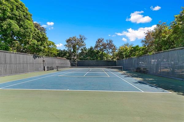 tennis court (rackets/balls available)