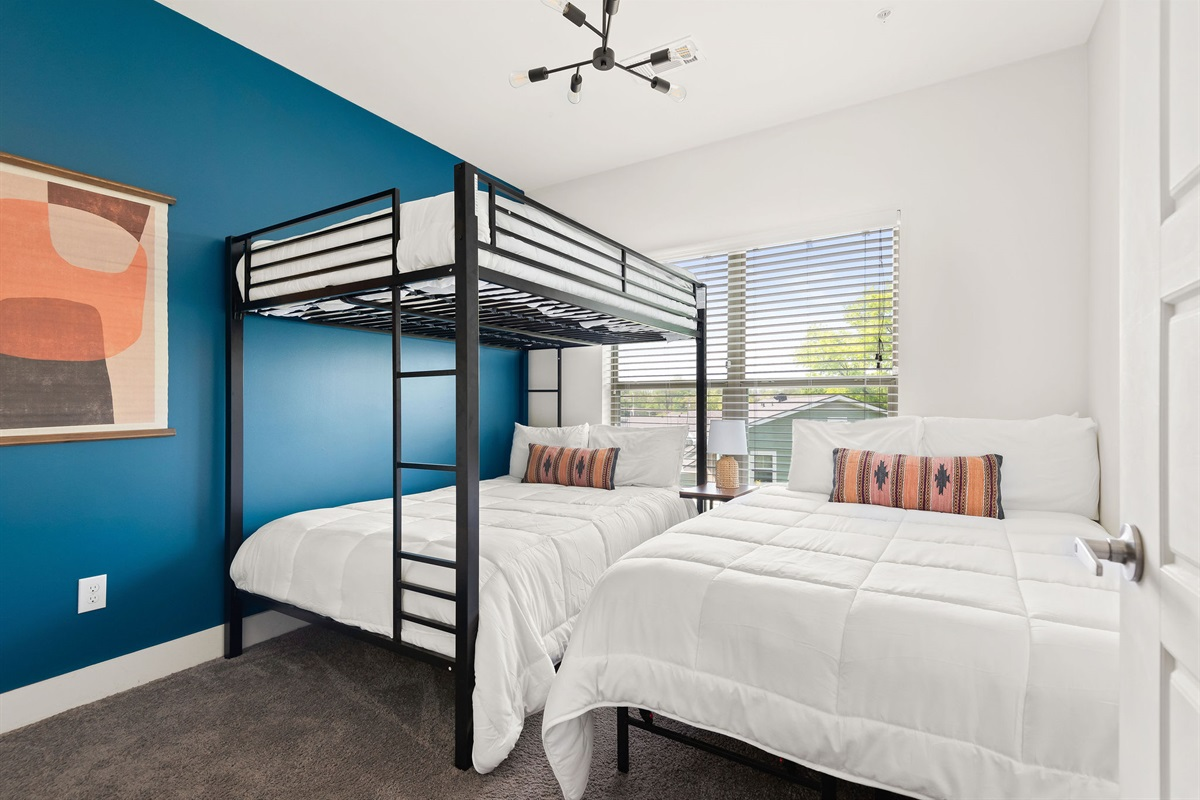 3 Memory foam beds in bedroom #2