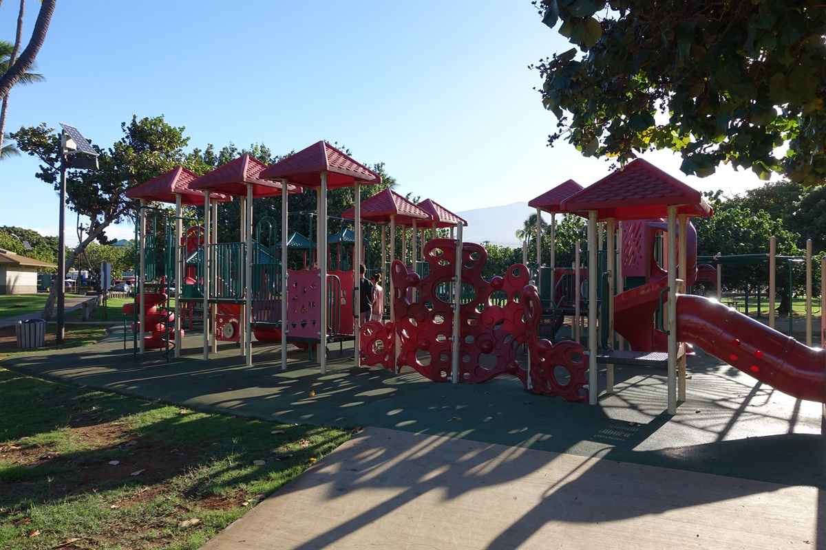 The kids will have a wonderful time at Kalama Beach Park's extensive playground