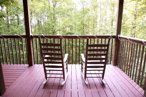 """""""Mom and I thoroughly enjoyed our visit to the Smokies. Your cabin is centrally located between all the hikes we wanted to do and only a couple of miles from the entrance to the park. We loved sitting out on the upper patio in the rocking chairs."""""""