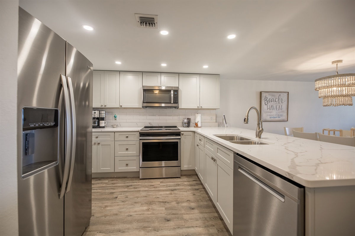 Completely updated kitchen.