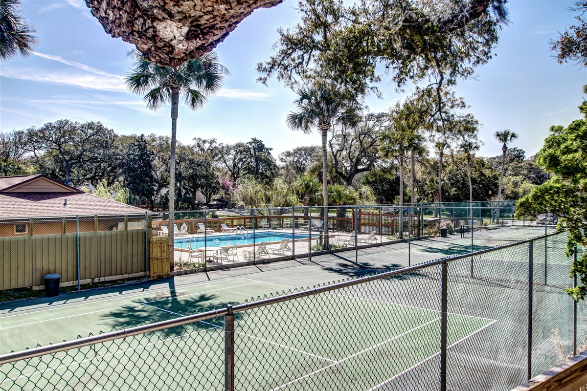 Tennis Courts Near Pool