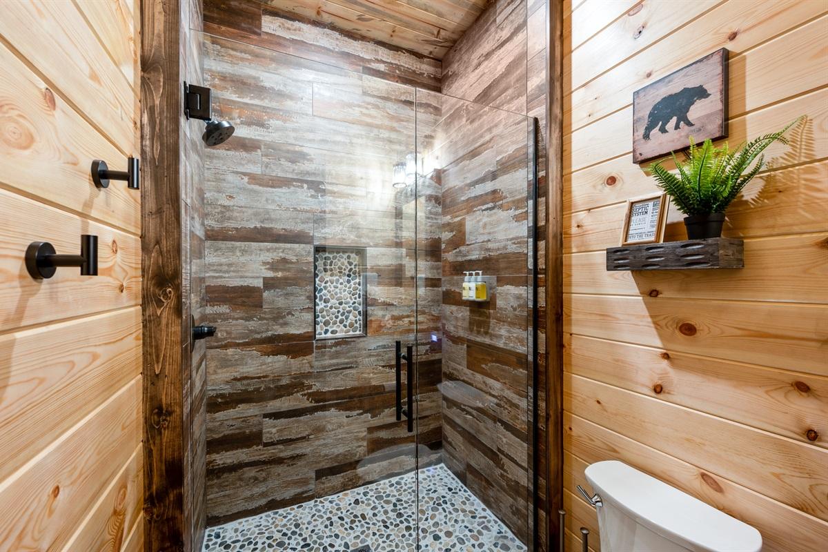 Downstairs King Bathroom