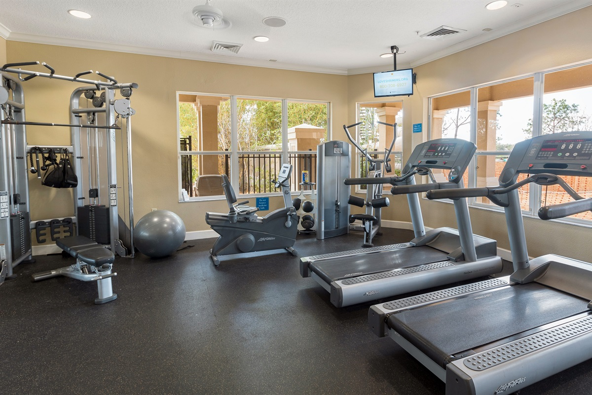 Exercise Room (Not Shown-Movie Theater & Sundry Shop)