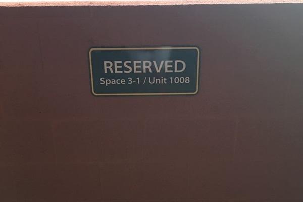 Reserved Parking 1 CAR