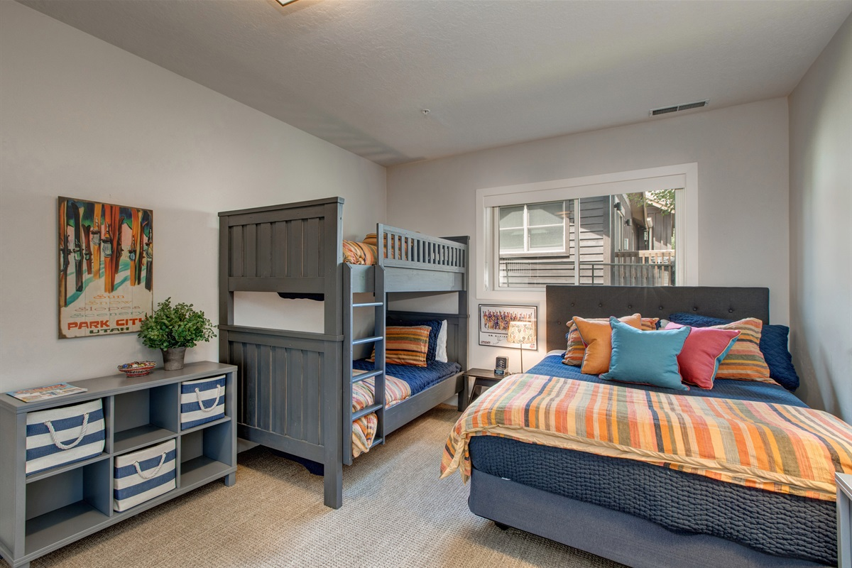 Bedroom Four - Queen bed and twin bunkbeds