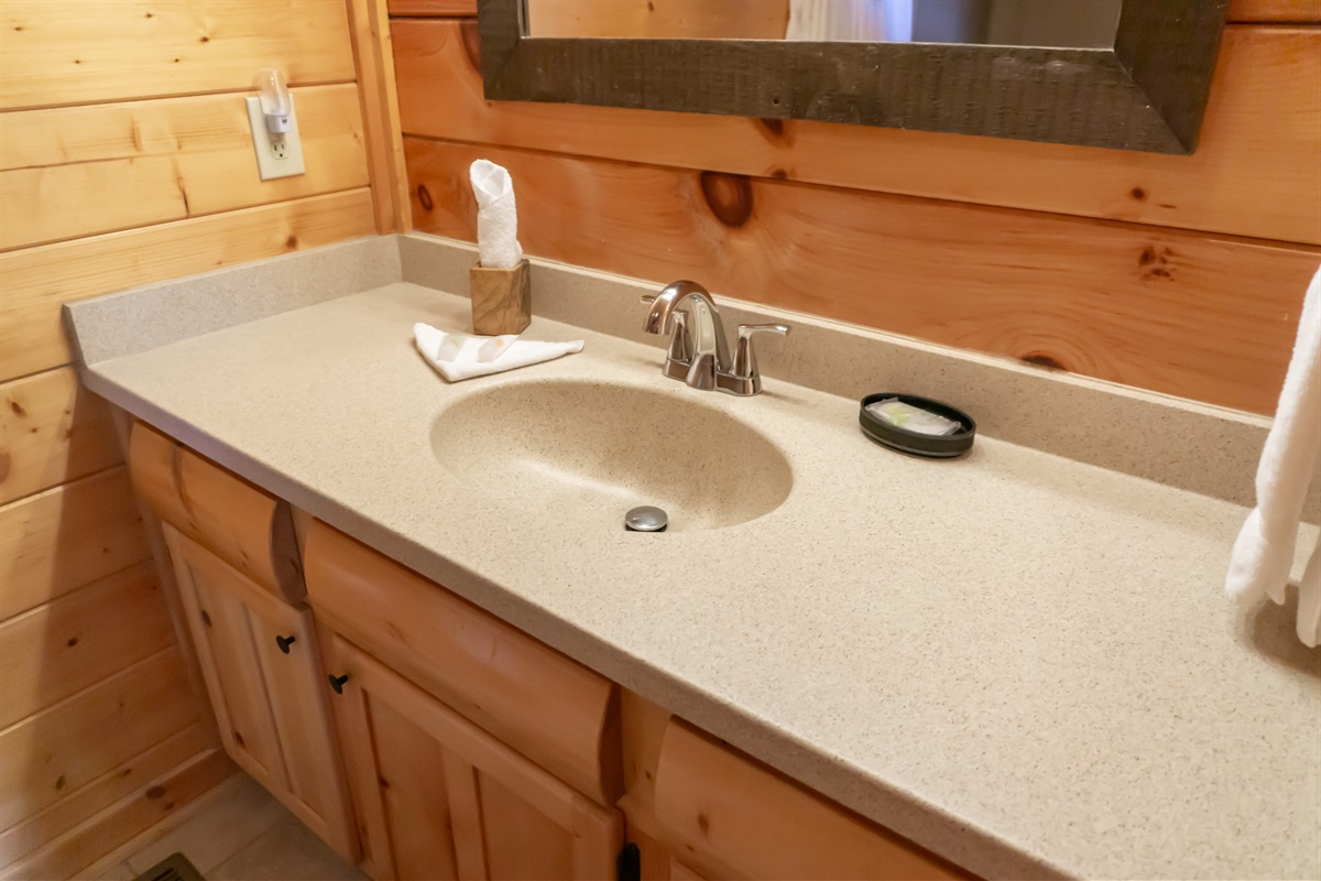 Main level king master suite bathroom vanity