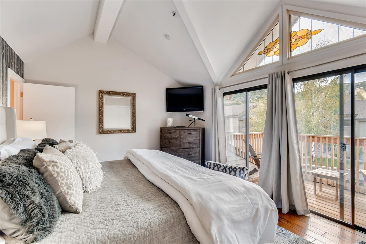 Master Bedroom Suite - small private balcony.