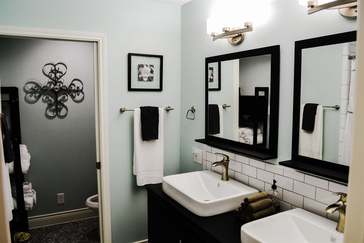 Bathroom #2 (double vanity).