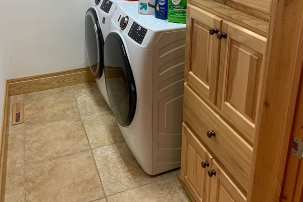 Brand new washer and dryer for you to use during your stay!