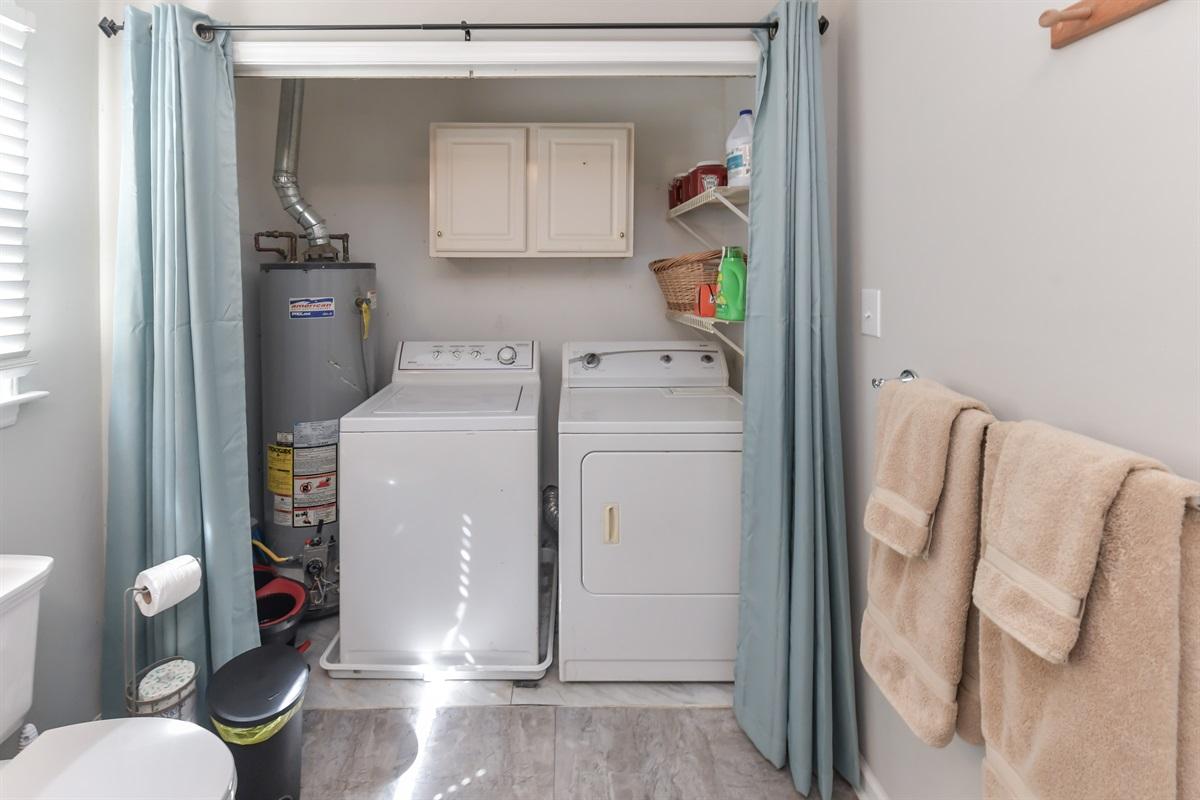 Stocked laundry room