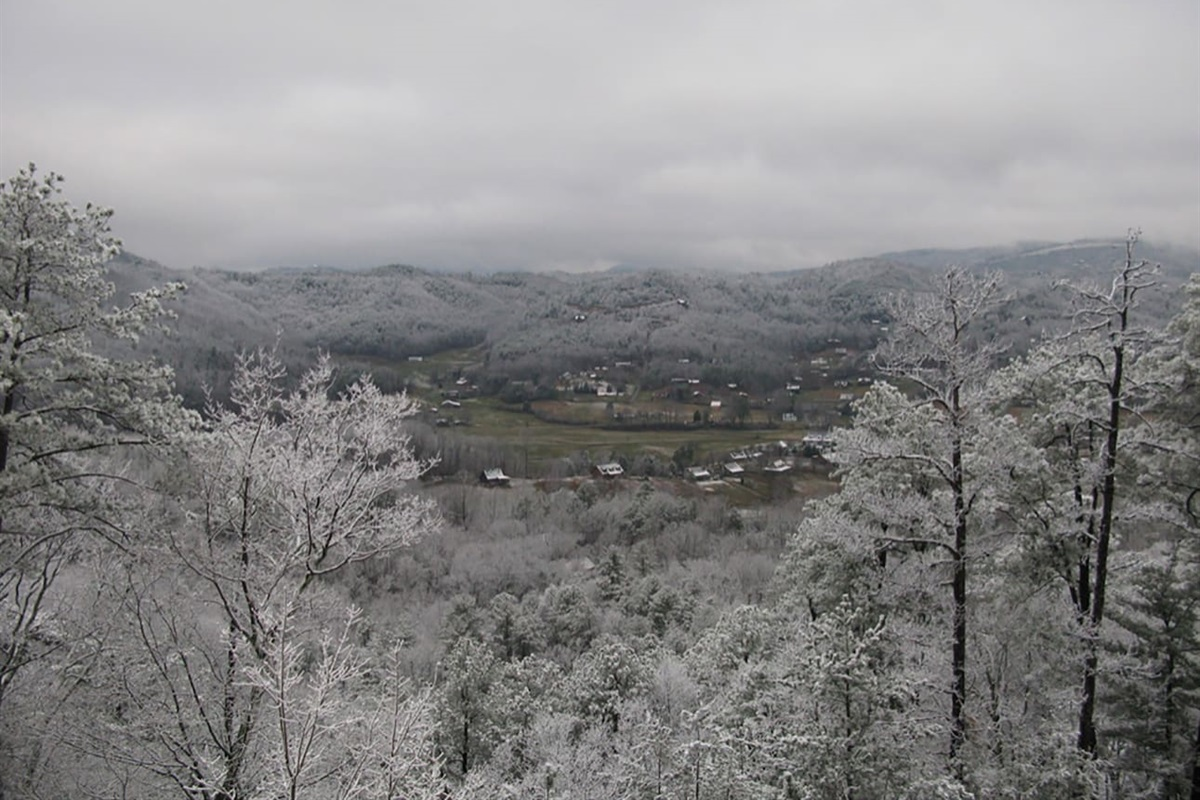 Winter views from the cabin