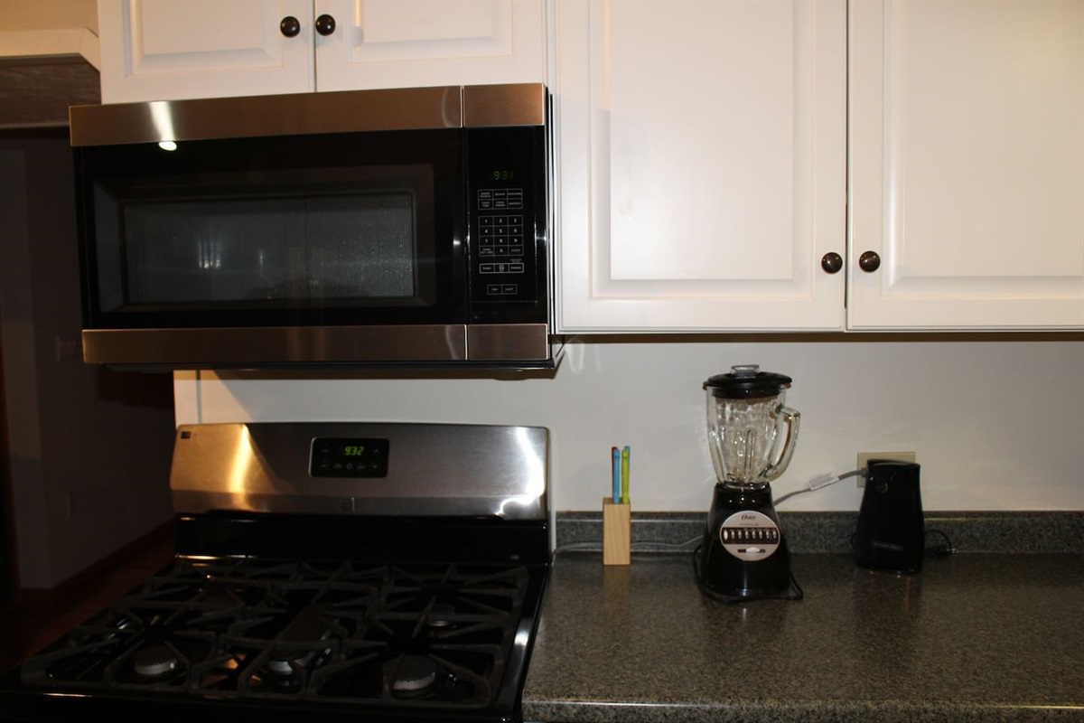 Stainless steel appliances in the main kitchen