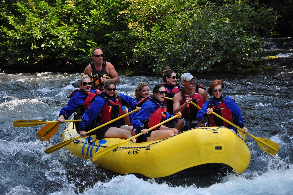 Some amazing Whitewater rafting with Class 2-4 rapids nearby.