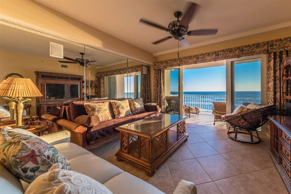 Living Room with oceanfront views from everywhere.