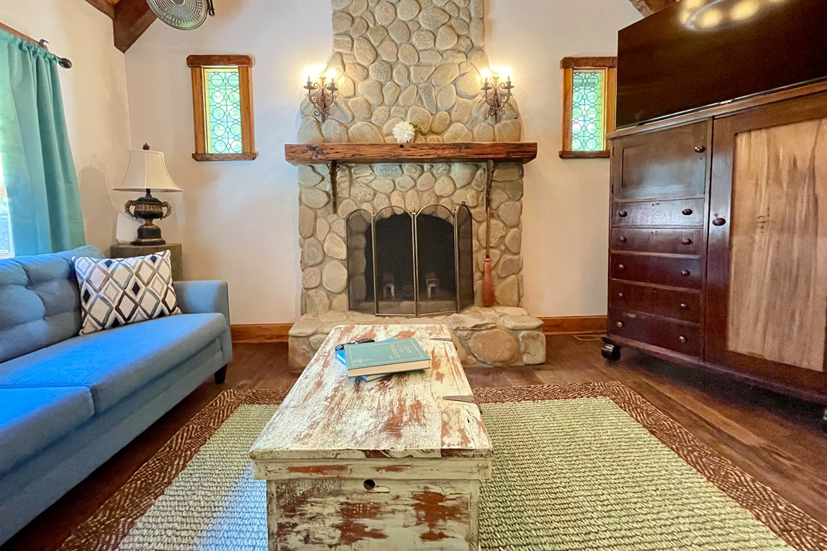 The Cottage Stone fireplace