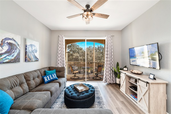 Large open family room
