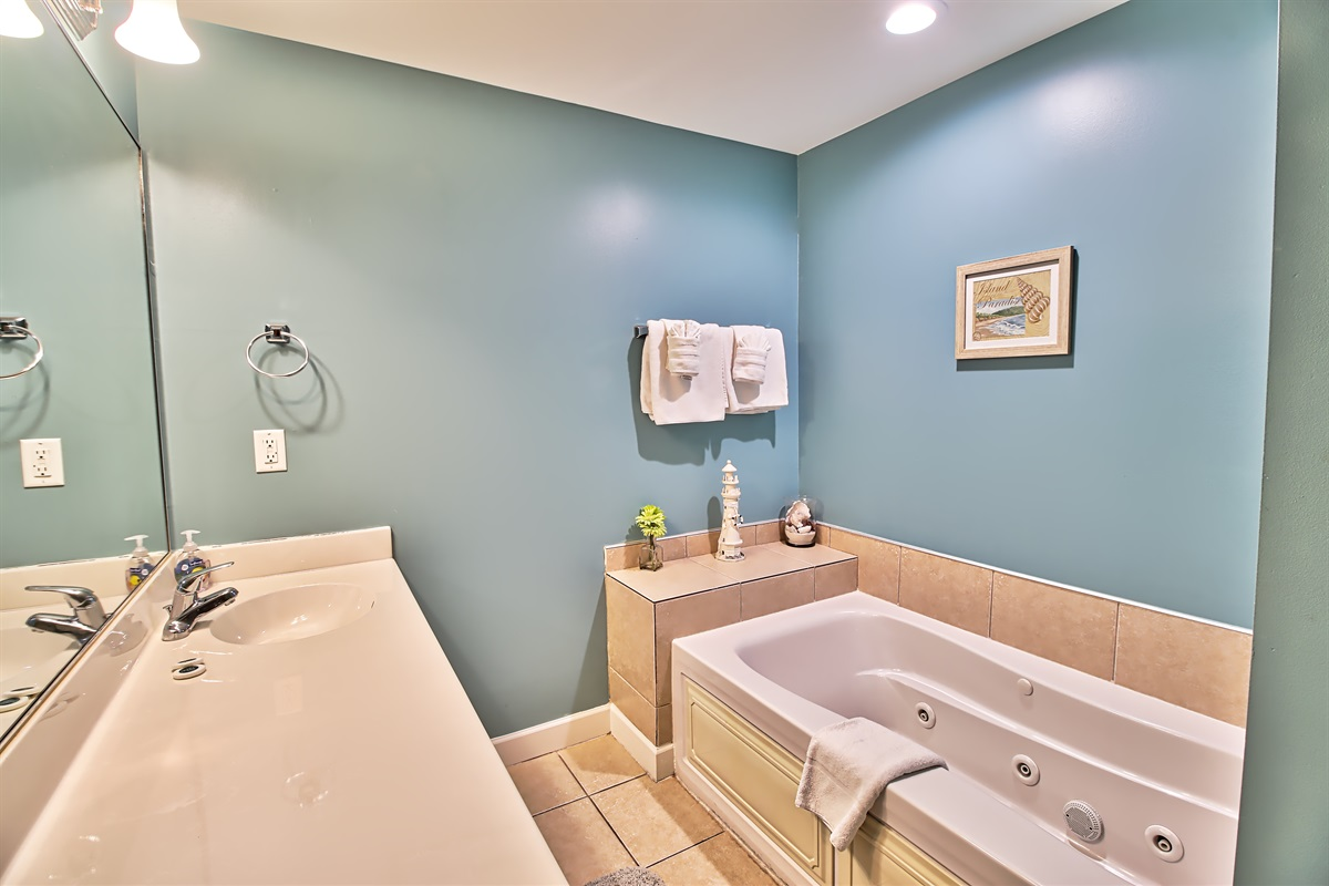 1st master tub and shower