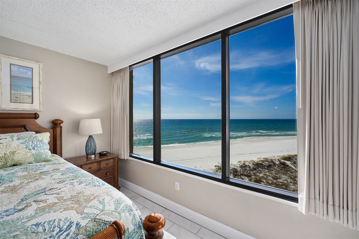 Gulf Front Master Bedroom with a View