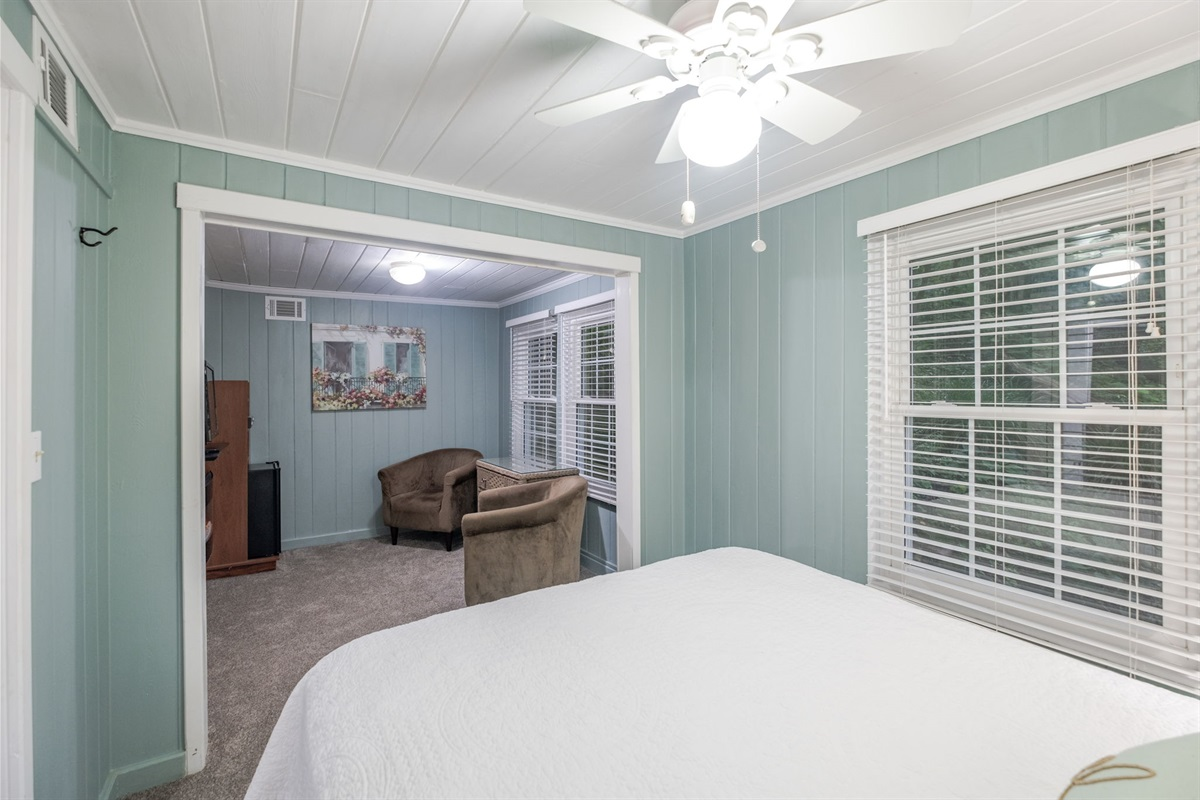The Fern suite is surrounded by trees and is so relaxing!