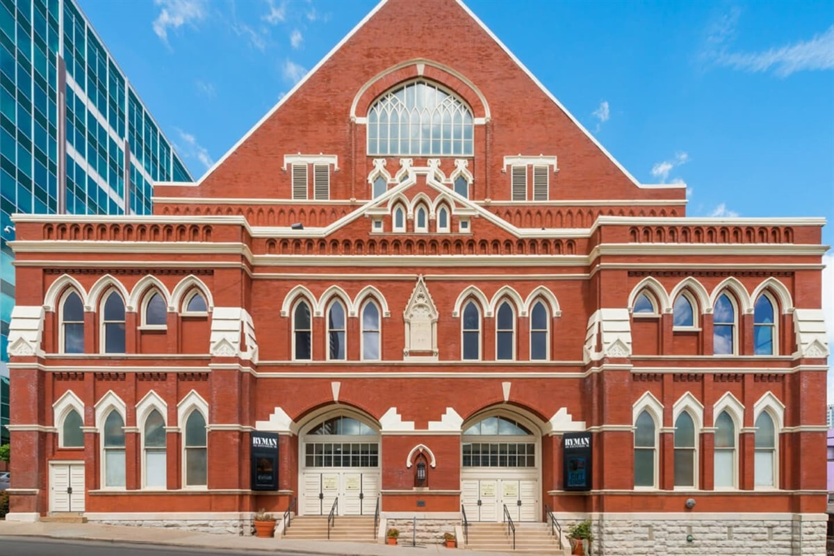 Make sure to visit the historic Ryman Auditorium while you're here!