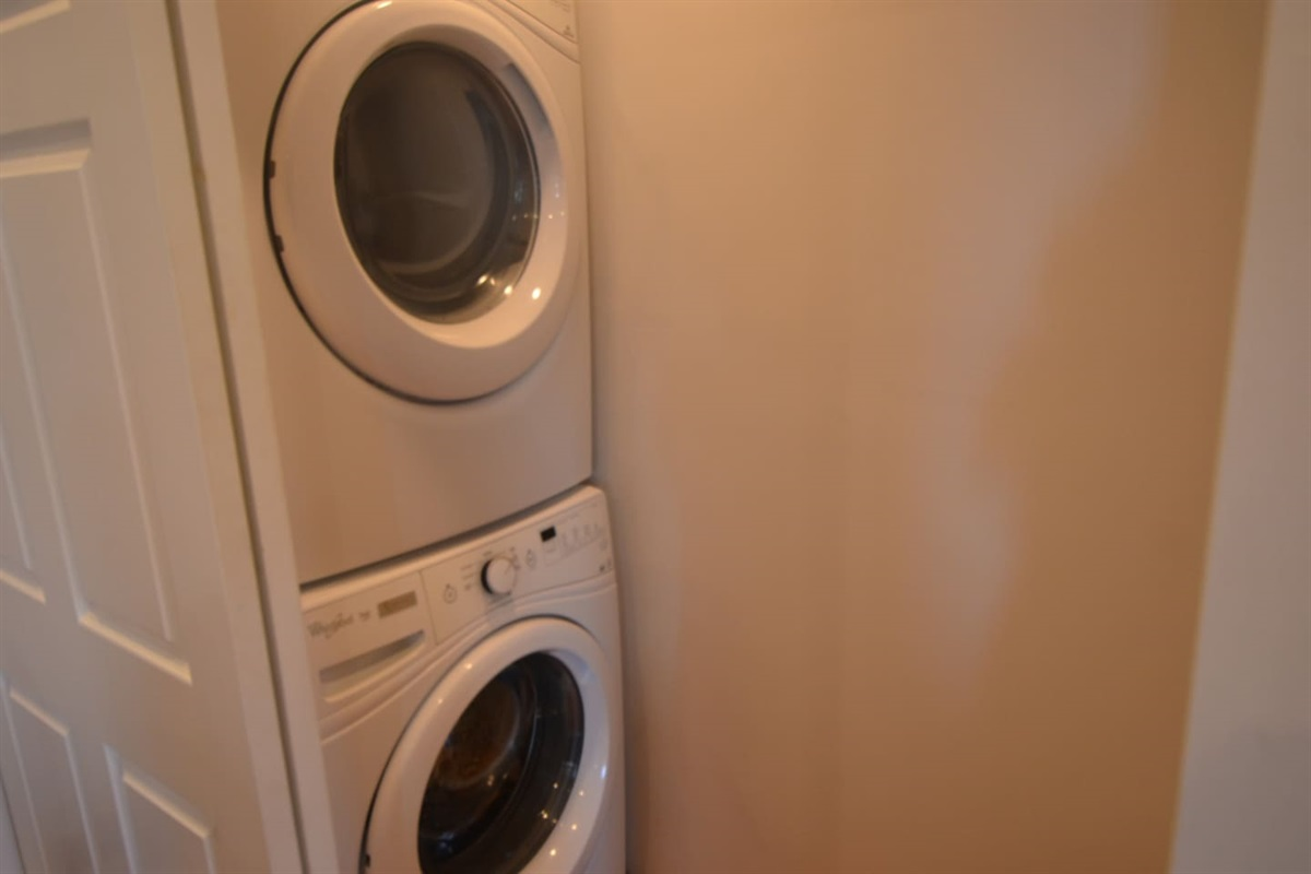 Heavy duty washer and dryer on main floor