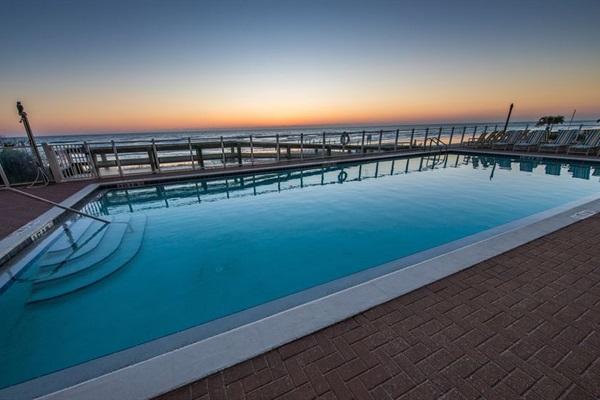 Oceanfront swim pool - oversized to allow swim laps.