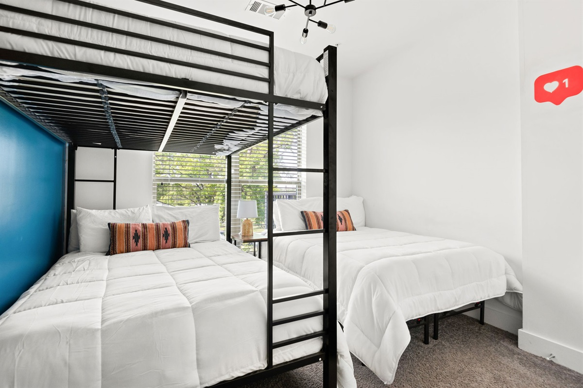 6 comfy beds for your group to spread out and relax!