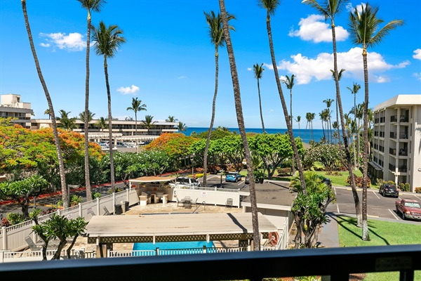 Aloha-inducing palm trees, hibisci, plumerias... and ocean view from your lanai